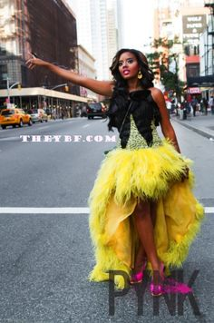 "FIRST LOOK: Angela Simmons GOES ""Sex In The City"" For PYNK Magazine 