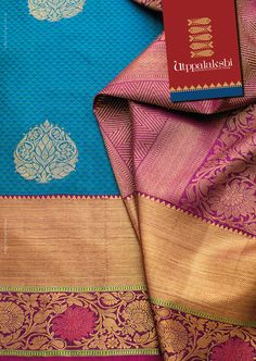 The gorgeous blue and pink jacquard woven saree is hard to resist. Lovely zari motif in the blue actually gives you the feeling of sailing in a gleeful sea. Fun is finally accomlpished by celebration of rich brocades of flowers. Sheer poetry. #Utppalakshi #Sareeoftheday#Silksaree#Kancheevaramsilksaree#Kanchipuramsilks #Ethinc#Indian #traditional #dress#wedding #silk #saree#craftsmanship #weaving#Chennai #boutique #vibrant#exquisit #pure #weddingsaree#sareedesign #colorful #elite