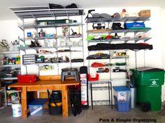 Ahhh, an organized garage from pureandsimpleorganizing.com