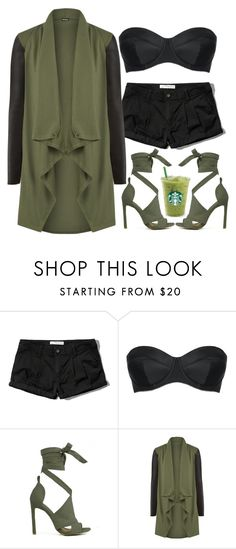 """""""Green Tea Date"""" by m4k4y14 ❤ liked on Polyvore featuring Abercrombie & Fitch, L'Agent By Agent Provocateur, WearAll and modern"""