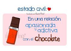 Estado civil: en una relación adictiva al #chocolate !!!! ❤️