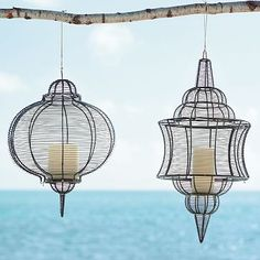 west elm wire lanterns