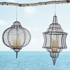 west elm wire lanterns