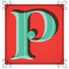 P is Peace  Wishing you Peace this Christmas