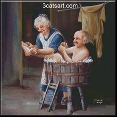 Illustration by Dianne Dengel Vieux Couples, Old Couples, Creation Image, Photo Humour, Growing Old Together, Old Folks, Old Age, Couple Art, Couple Room