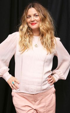 Drew Barrymore is pretty in pink in this adorable outfit!
