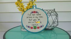 Embroidery Hoop Art - Framed Cross Stitch - Embroidery Wall Decor - Finished…