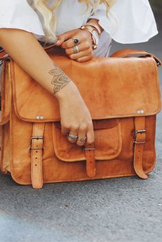 Satchel with structure