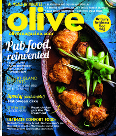 olive November 2015 cover. This Thai roast chicken is the perfect meal for a winters evening!