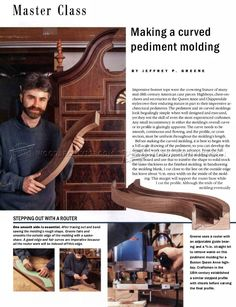 Making Curved Molding - Molding Construction