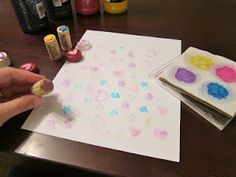 The Art of Painting: Homemade Stamps & Stamp Pads from The Artful Child