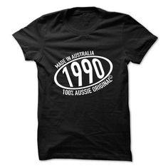 Made in 1990 100% Aussie Original T Shirts, Hoodie. Shopping Online Now ==►…