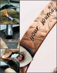 Free download teaches you how to metal stamp your jewelry to create texture, patterns, and words! #jewelrymaking #metalstamping