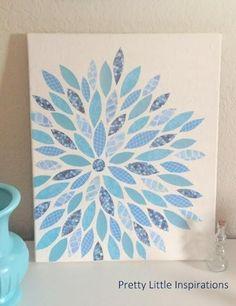 "canvas art diy | DIY Canvas Paper Art or scrap quilt idea for ""Applique quilt as you go"""