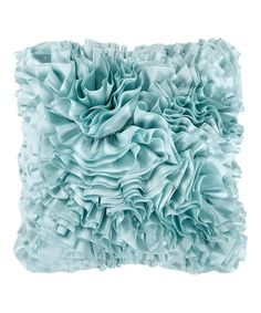 $24.99 Look at this #zulilyfind! Light Blue Haze Ruffle Throw Pillow #zulilyfinds