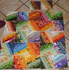 Blocks of stripes - quilt