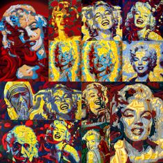 Forever Marilyn #1 Paintings by Werner Horvath