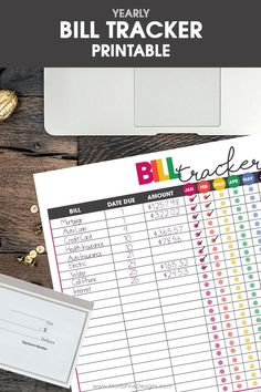 free printable bill tracker | financial organizer | money tracker | get life organized | financial freedom
