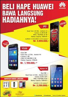 Beli Hape Huawei Bawa Langsung Hadiahnya..