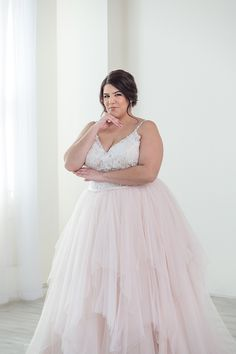 6f5ff4a603f Allure Romance plus size ballgown wedding dress. Sparkly top with a tulle  rag skirt.