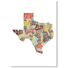 Texas Textual Art ($36) ❤ liked on Polyvore featuring home, home decor, modern home decor and modern home accessories