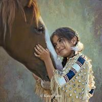 """""""Eyes of the Heart""""New Giclee Canvas Reproductions of Karen Noles Paintings -"""