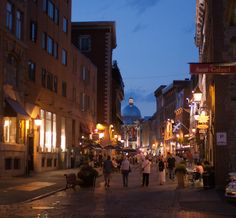 Old Montreal Old Montreal, Twilight, Street View, Spaces