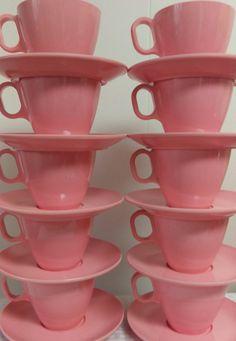 1960s Bubblegum Vintage Pink Melamine Melmac by CoalCountryVintage & Vintage Melamine Plates Pink Blue Saucers Brookpark Modern Design ...