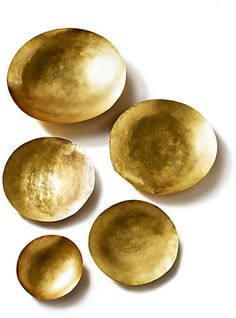 Form Brass Dishes/Set of 5