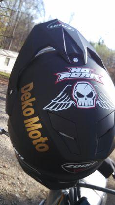 cheap way to make a bad ass custom dual sport helmet >>Vinyl cutter<<r =)