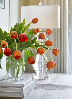 Tulips. #Tulips Chenault James Interiors.