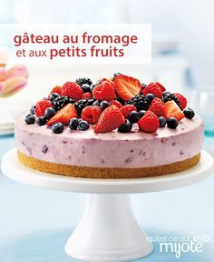 Spectaculaire, n'est-ce pas ? Et pourtant, ce dessert est impossible à rater. Cliquez pour obtenir maintenant cette formidable #recette de Délicieux gâteau au fromage et aux petits fruits.
