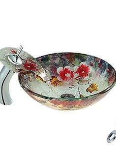 XH@G Flower Round Tempered glass Vessel Sink With Waterfa... https://www.amazon.com/dp/B01M6AC2YP/ref=cm_sw_r_pi_dp_x_gy6EybMJR4MXR