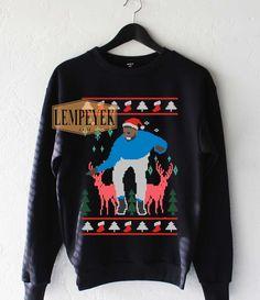 Drake Dance Deer Ugly Christmas Sweatshirt Unisex Size S-3XL