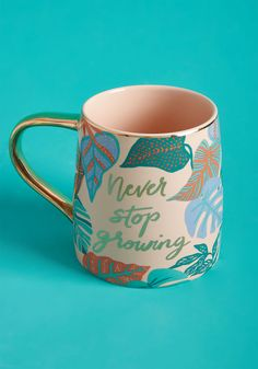 Paper Source Encouraged to Flourish Mug by Paper Source from ModCloth