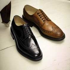 Tan Paddington full brogue Derby shoes | Men's business shoes from Charles Tyrwhitt | CTShirts.com