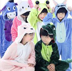 af9c2286e2818c Flannel Pijamas Kids Cosplay Cartoon Animal Baby Boys Girls Pyjamas Home  Clothes Panda Unicorn Pajamas Kids Onesie Sleepwear-in Pajama Sets from  Mother ...