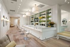 Drybar Features San Tropez Hardwood Flooring from DuChâteau's Vernal Collection
