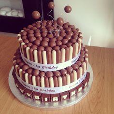 Malteaser and chocolate finger cake