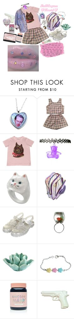 """""""Bubble gum heart ♡♡♡"""" by cdecker-ii ❤ liked on Polyvore featuring BUSCEMI, Nach Bijoux, UNIF, Topshop, Dot & Bo, Lime Crime, NARS Cosmetics and ZENTS"""