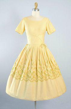 ON SALE Vintage 50s Cotton Dress / 1950s by GeronimoVintage