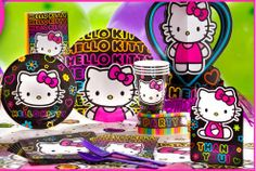 Neon Hello Kitty Theme Party!!