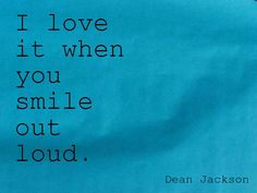 Smile Out Loud ~ from the Love in Blue series ~ LifeintheNow.com