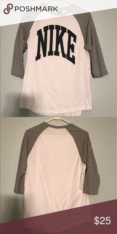 Men's Nike baseball Tee! Great condition, only worn a few times! Is a men's Medium, but I wore it myself so it was just slightly oversized. Nike Tops Tees - Long Sleeve