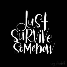 JSS: Just Survive Somehow   The Walking Dead   Brush Lettering