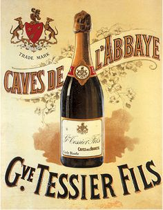 FRENCH TESSIER CHAMPAGNE BOTTLE AD