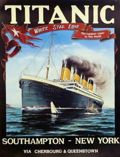 This was one of the ads for the Titanic to convince people to take a trip on it.  Hind sight is 20/20!!!