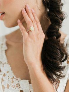 beautiful engagement ring pose