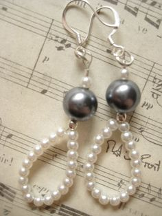 Jewelry Earrings Pearl Earrings by Donetta of Simply Gorgeous Bead Jewellery, Beaded Jewelry, Jewelery, Fine Jewelry, Jewellery Shops, Jewellery Making, Skull Jewelry, Hippie Jewelry, Diamond Jewellery