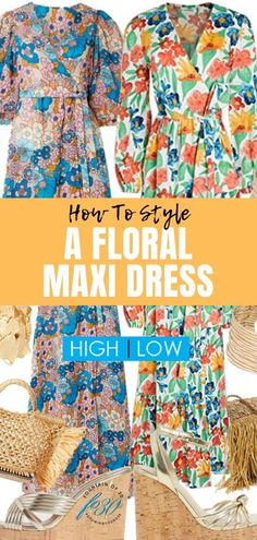 You can spend either $2300 or $230 to get this floral maxi dress outfit! Which would you choose? Here's how to style a patio party maxi dress high or low. #summerfashion #over40 #florals #maxidress #lookforless Maxi Wrap Dress, Floral Maxi Dress, Casual Summer Dresses, Casual Outfits, Spring Fashion, Autumn Fashion, Meeting Outfit, Everyday Dresses, Party Looks
